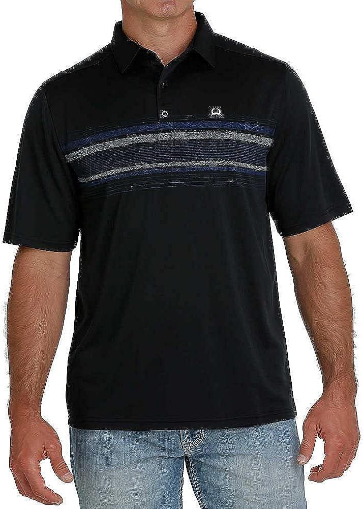 Cinch Apparel Mens Black Arena Flex Polo Shirt