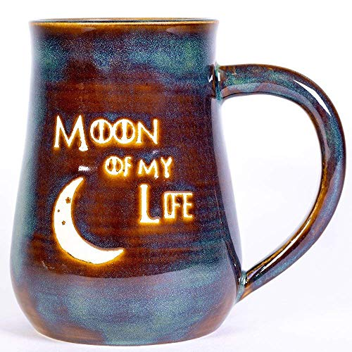 Moon of My Life Handmade Coffee Pottery Mug