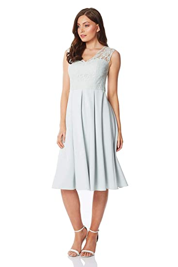 ever popular good looking a few days away Roman Originals Women Lace Fit and Flare Dress - Ladies Evening Special  Occasion Party Formal Evening Wedding Guest Mother of The Bride Groom Fit  and ...