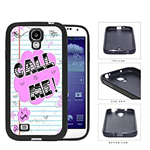 Call Me! Note With Stars And Hearts Rubber Silicone TPU Cell Phone Case Samsung Galaxy S4 SIV I9500