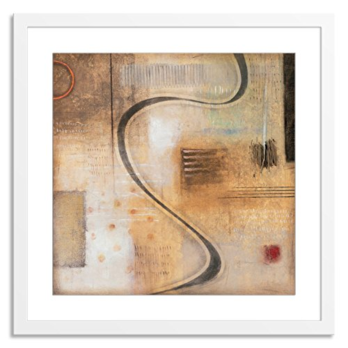 Gallery Direct Catalog II Artwork on Paper by Sean Jacobs with White, Clean and Simple Frame, 28