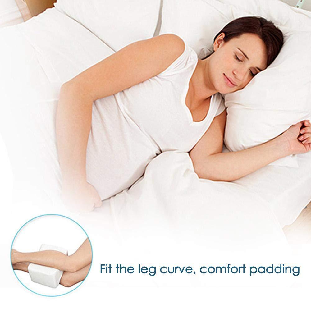 Cuscini per Le Gambe Cuscino Ortopedico per Ginocchio Guanciale in Memory Foam per Dolore alle Gambe Gravidanza Anca e Dolori Articolari Nessuna Fascia Elastica