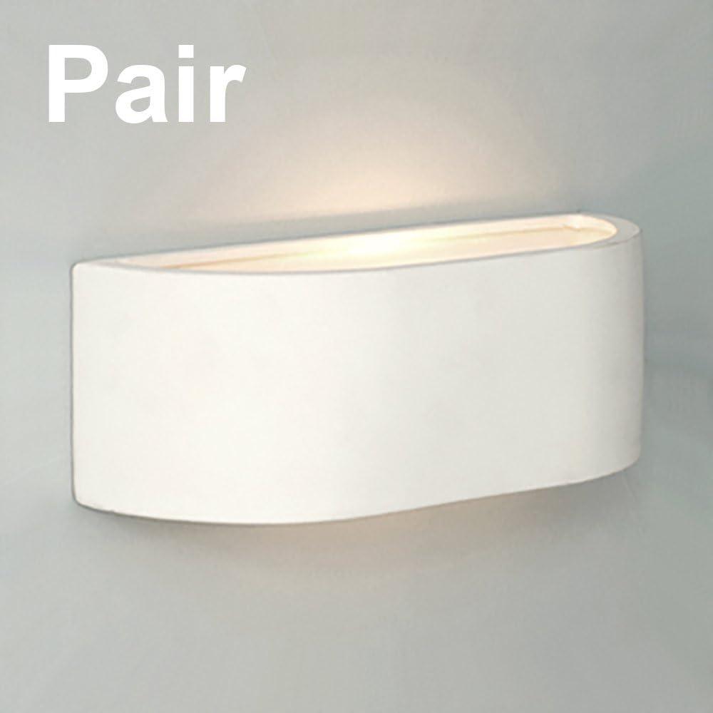 Pair of - Modern G25 Mini Planter Style White Ceramic Wall Lights
