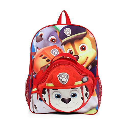 Nickelodeon Paw Patrol Kids Backpack with Die Cut Marshall Insulated Lunch Kit ()