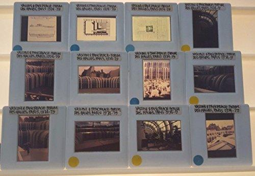 12 CLAUDE VASCONI & PANCREACH Architecture 35mm Picture Slides FORUM DES - Forum Stores Shops