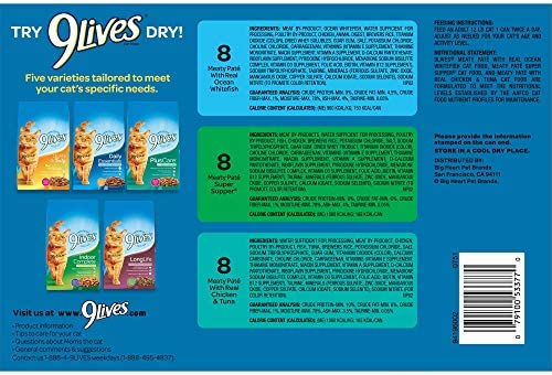 9 Lives Seafood & Poultry Favorites Wet Cat Food Variety (24 Pack), 5.5 Oz 4