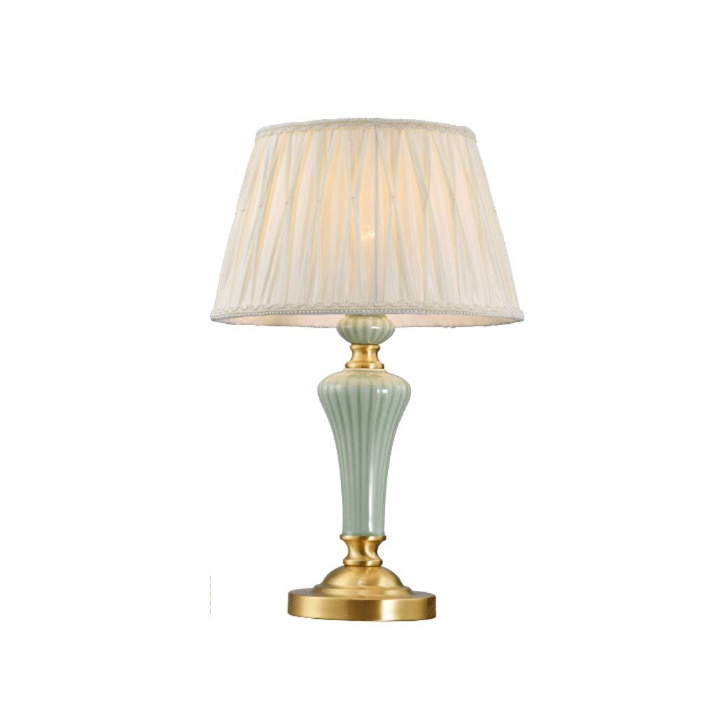 Weiyue 電気スタンド- テーブルランプ銅セラミックロマンチックな暖かいホームリビングルームクリエイティブ研究寝室のベッドサイドランプ、50×32センチ (色 : A, サイズ さいず : 50x32cm) 50x32cm A B07S6P35Y4