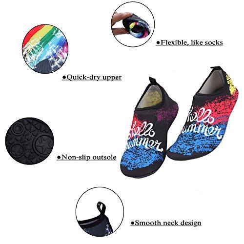 Léger Piscine Plage Aqua Yoga Chaussures Chaussures Sec À D'eau Pour 3 Rapide Hommes Exercice Couleurs Surf Combinaison Plage Alsyiqi Femmes OEEdPqw