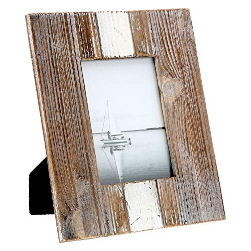 """(Barnyard Designs Rustic Farmhouse Distressed Picture Frame - Unfinished Wood Photo Frame 5"""" x 7"""")"""