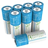 8 Baseline Battery 800 mAh IFR 18500 3.2v LiFePO4 Lithium Phosphate Rechargeable Batteries Solar Garden Light