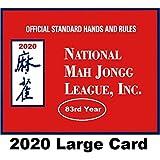 National Mah Jongg League 2020 Large Size Card - Mah Jongg Card