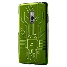 OnePlus 2 Case, Cruzerlite Bugdroid Circuit Case Compatible for OnePlus 2 / OnePlus Two - Retail Packaging - Green