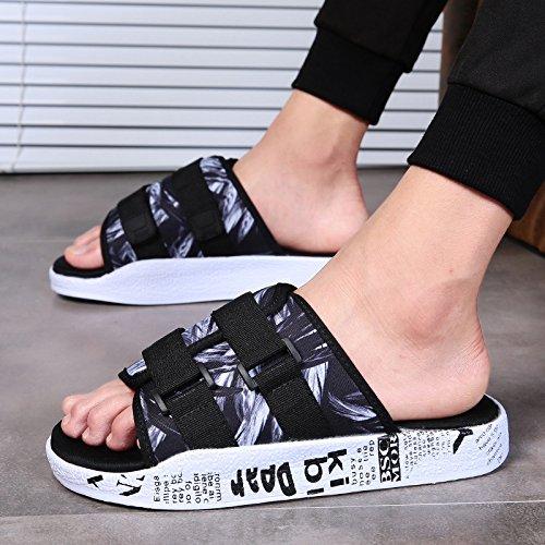 Sandales Aihuwai Hommes Pantoufles De Sandales Été Hommes Sandales Sandales Sandales Mot Non Collectrices Et Pantoufles Sandales Casual Chaussures Hommes Costume Épais
