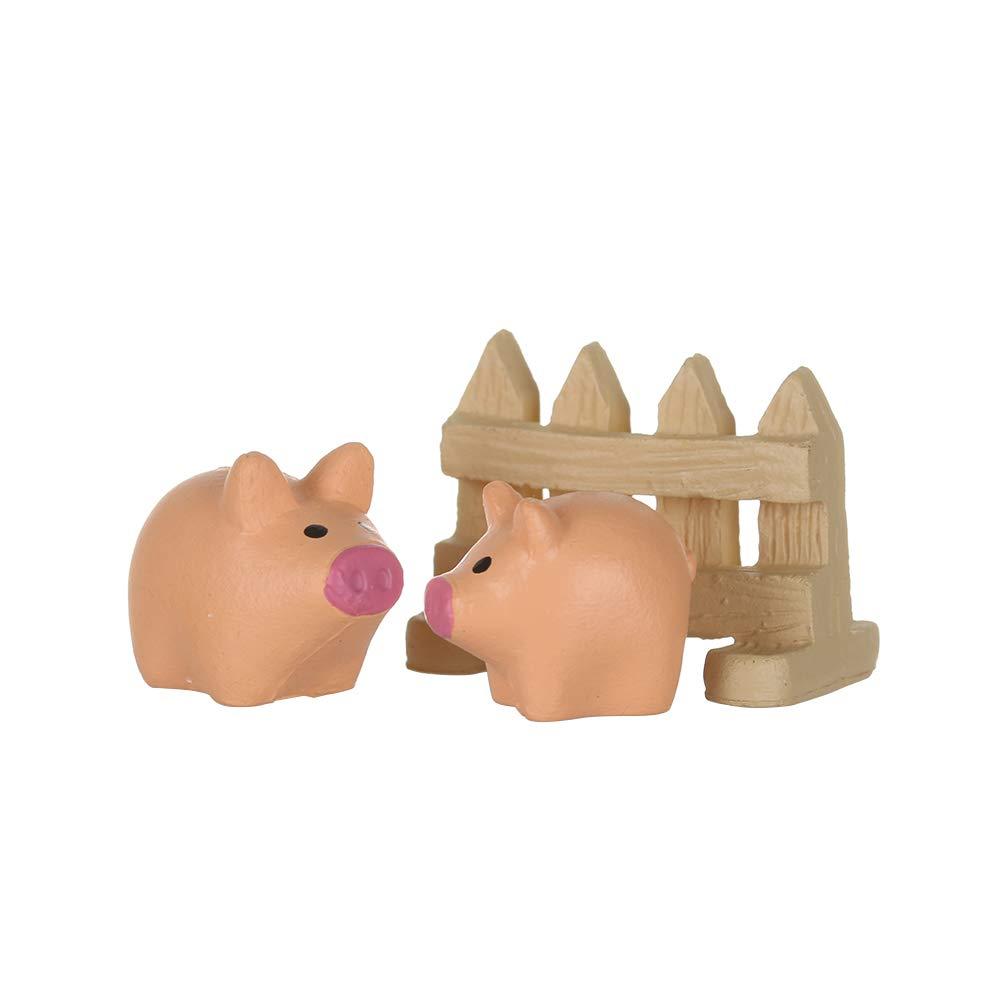 1 fashyner 3Pcs Artificial Mini Hedgehog With Red Mushroom Miniatures Cute Duck/&Pig/&Dog Fairy Garden Gnomes Moss Terrarium Resin Crafts Decorations