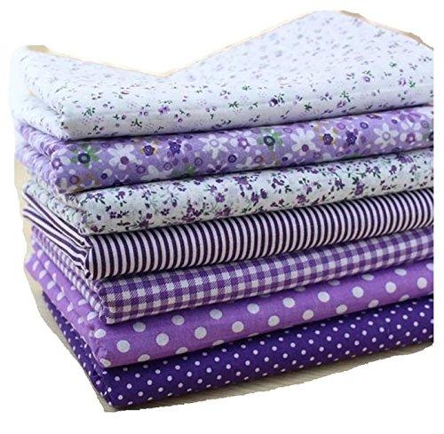 Purple Cotton Patchwork Fabric Bundle For DIY Sewing Textiles tilda Quilting Tissue 50x50cm (7 pcs)