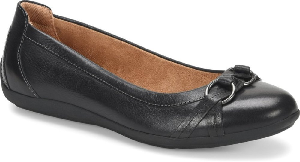 Comfortiva Women's, Maloree Slip on Flats B07BRZWQQK 8.5 B(M) US|Black