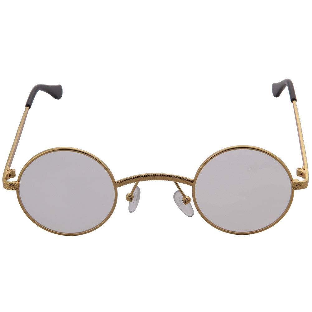 OGOBVCK di forma ovale occhiali vintage street style lenti con sottile bordo uomini donne