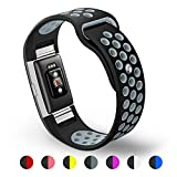 Kutop Band Compatible for Fitbit Charge 2, Soft Silicone Silica Gel Replacement Sports Fitness Wristband Bands Compatible for Fitbit Charge 2 Heart Rate Watchband