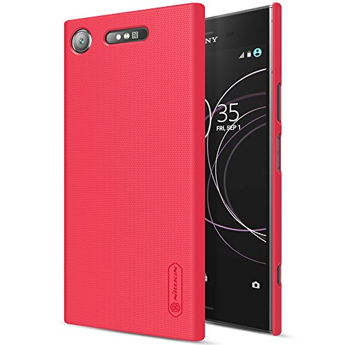 For Sony Xperia XZ1 Case, PC Ultra Thin Lightweight Slim Fit Case, Non-Slip Salient point Surface for Excellent Grip Anti-Fingerprint Cover (Red)