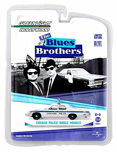CHICAGO POLICE 1975 DODGE MONACO from the classic film THE BLUES BROTHERS * Hollywood Greatest Hits * 2015 Greenlight Collectibles 1:64 Scale Limited Edition Die-Cast Vehicle