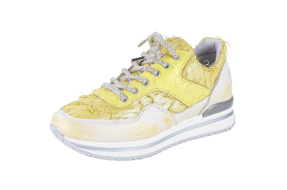 2Star Gold Schuhe Damen Gelb Leder Turnschuhe 38
