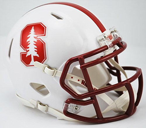 NCAA Stanford Cardinal Speed Mini Helmet, Small, Red by Riddell