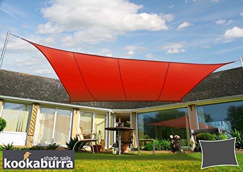 クッカバラ日除けシェードセイル 赤色 3.6m正三角形 紫外線98%カット 防水タイプ OL0116ST B004XGG9MA 11495 三角形: 3.6 x 3.6m  三角形: 3.6 x 3.6m
