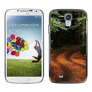 FECELL CITY // Duro Decorativo Carcasa de Teléfono PC Caso Funda / Hard Case Cover forSamsung Galaxy S4 // Nature Forrest Trail