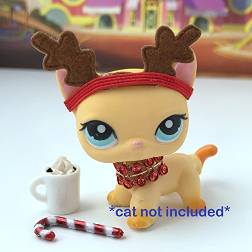 Littlest Pet Shop Accessories Lps Clothes Lot Reindeer Cat Not