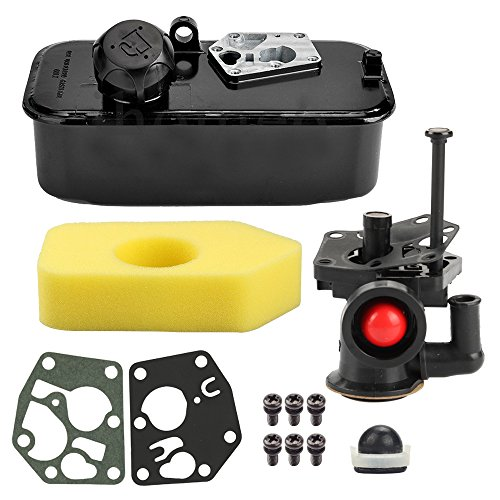 Briggs Stratton Fuel Tank - Harbot 795477 Carburetor 494406 Fuel Tank with Air Filter Tune Up Kit for Briggs & Stratton 498809 498809A 795469 794147 699660 794161 498811 Engine
