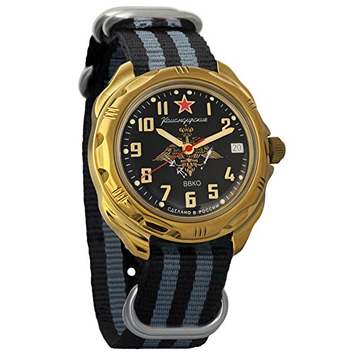Vostok Komandirskie Commander Russian Army Mens Mechanical Military Wrist Watch #219632 (Vostok Mechanical Wrist Watch)