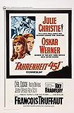 Fahrenheit 451 Us Poster Art From Left Julie Christie Oskar Werner 1966 Movie Poster Masterprint (24 x 36)