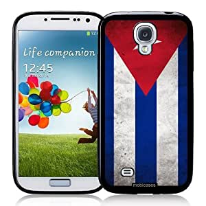 Cool Painting Flag of Cuba Grunge - Protective Designer BLACK Case - Fits Samsung Galaxy S4 i9500