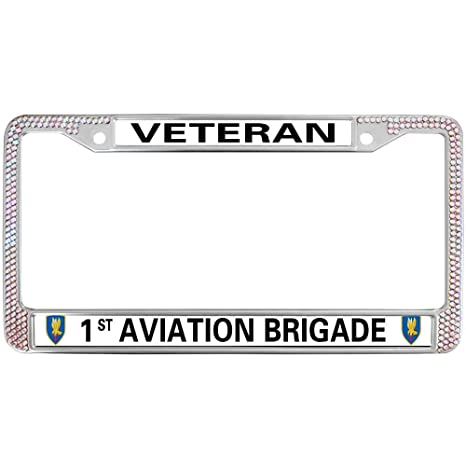 Amazon com: GND Chrome License Plate Frame,Veteran 1ST