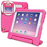 Cooper Dynamo Shock Proof Kids case Compatible with iPad Mini 4 | Heavy Duty Kidproof Cover for Kids | Girls, Boys, School | Kid Friendly Handle & Stand, Screen Protector | Apple A1538 A1550 (Pink)