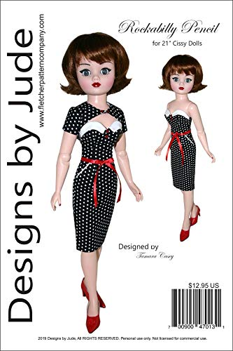 """Rockabilly Doll Clothes Sewing Pattern for 21"""" Madame Alexander Cissy Doll"""