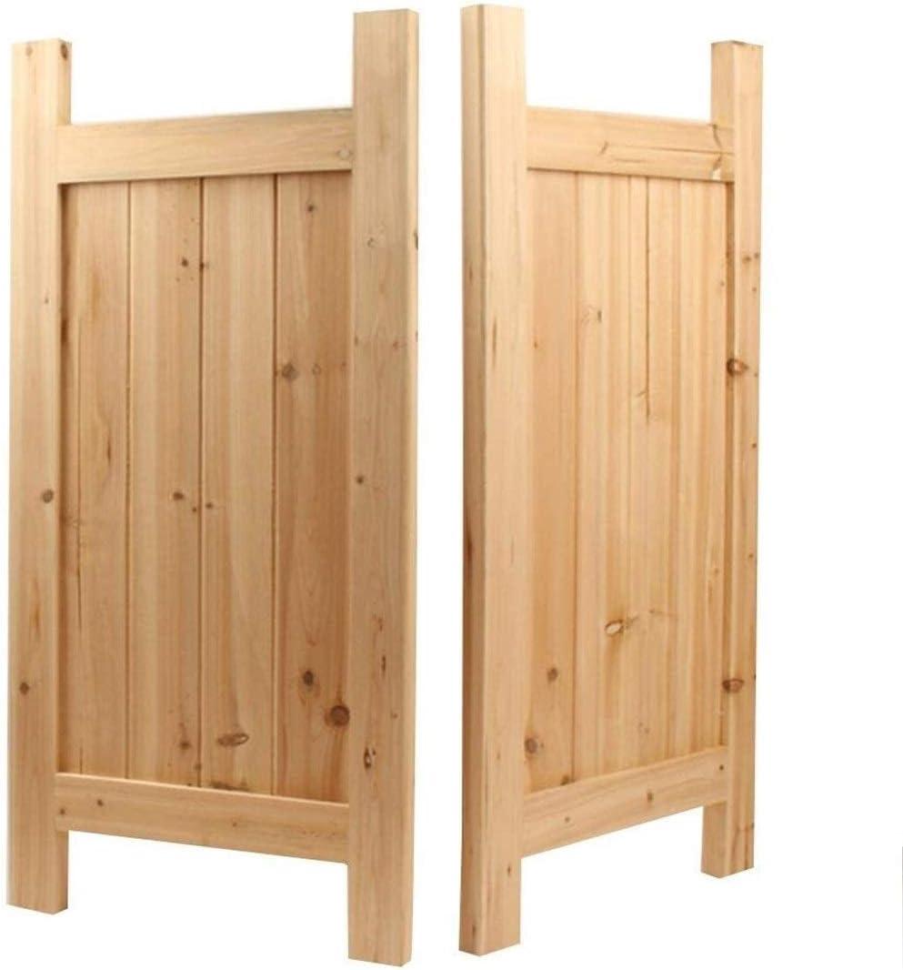 Cafe puertas / Puertas batientes Puertas Cafe rústica vieja puerta de madera, bisagra Incluye madera maciza no se agrieta cierre automático de la puerta del salón, personalizable Tamaño (Color: A, Tam: Amazon.es: