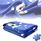 kiwitatá Super Soft Puppy Dog Cat Blanket Premium Flannel Dog Kitten Sleep Bed Cover Mat for Dog Beds/Crate/Kennels (Large,41×30 inch)