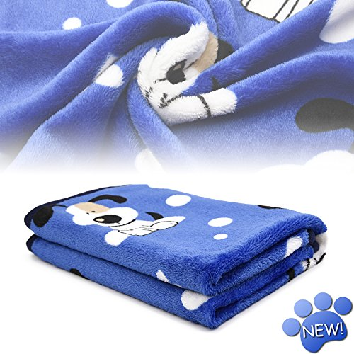 kiwitatá Super Soft Puppy Dog Cat Blanket Premium Flannel Dog Kitten Sleep Bed Cover Mat for Dog Beds/Crate/Kennels (Large,41×30 inch) For Sale