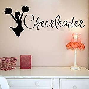 Cheerleader Decal Wall Saying Vinyl Lettering Art Decal Quote Sticker Home  Decal Part 36