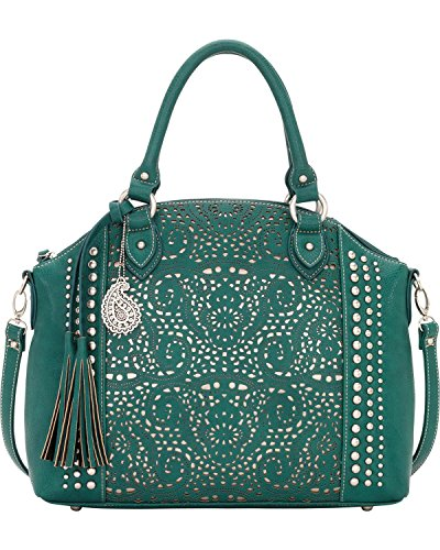 american-west-womens-bandana-mesa-collection-convertible-zip-top-tote-turquoise-one-size