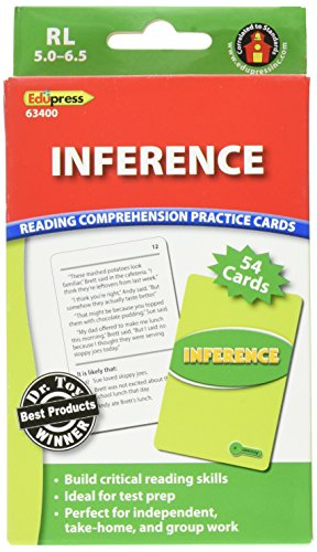 Edupress Reading Comprehension Practice Cards, Inference, Green Level (EP63400)