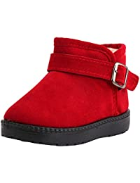 ad64b73780cc4 ... Boys Girls  Kids Pull-on Winter Fur Ankle Boots(Toddler) ...