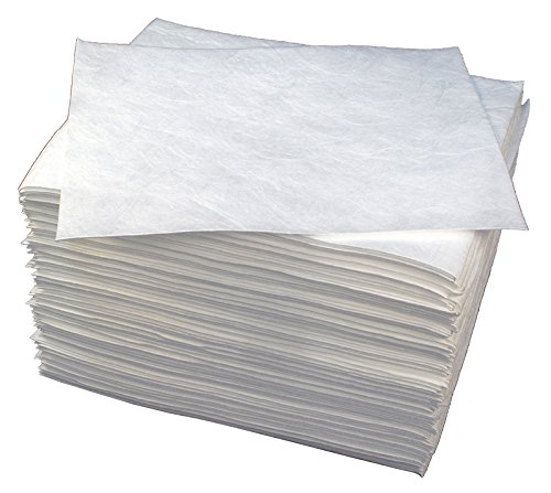 Buffalo Industries (90851) 15'' x 18'' Light Weight Meltblown Oil-Only Sorbent Pad, (Pack of 100)