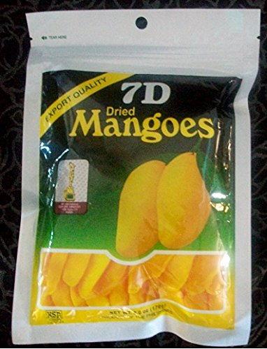 7D Dried Mangoes 6oz (170 grams) LOT of 6 packs