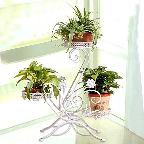 European style flower frame, multi-storey balcony bedroom living room flower pot rack by Flower racks