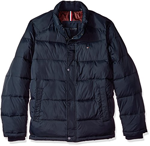 Tommy Hilfiger Men's Nylon Puffer Jacket, Midnight, S