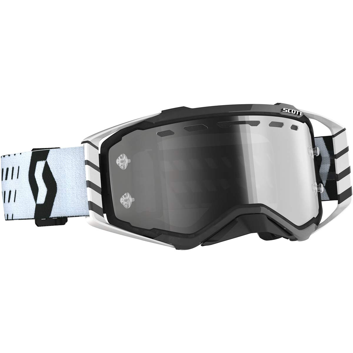 Scott Prospect Enduro LS Adult Off-Road Motorcycle Goggles - Black/White/Light Sensitive Grey/One Size by Scott