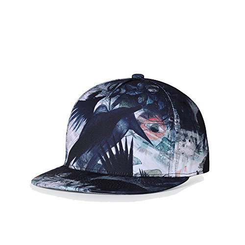 JPOJPO Men Women Baseball Cap Snapback Printing Flowers Couple Hip Hop Hats Quality Cotton Caps Bone 18# by JPOJPO