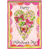 Cheap Floral Valentine House Flag – 2 Sided Message
